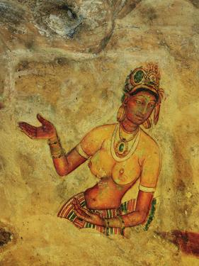 Frescoes, Sigiriya (Lion Rock), UNESCO World Heritage Site, Sri Lanka, Asia by Jochen Schlenker