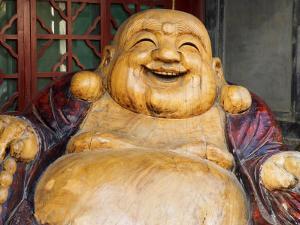 Laughing Buddha, Tanzhe Temple, Beijing, China, Asia by Jochen Schlenker
