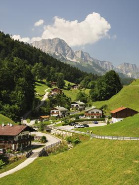 Maria Gern and Untersberg, Berchtesgadener Land, Bavaria, Germany, Europe by Jochen Schlenker