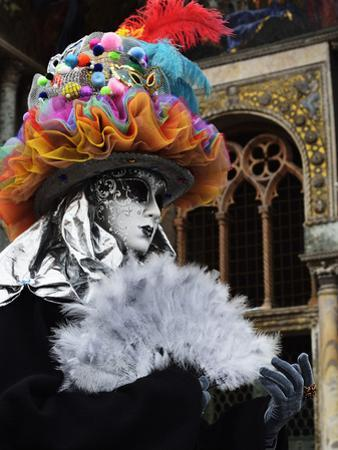 Masked Figure in Costume at the 2012 Carnival, Venice, Veneto, Italy, Europe