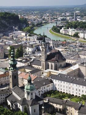 Old Town Seen From Fortress Hohensalzburg, Salzburg, Austria, Europe by Jochen Schlenker