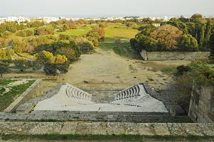Ruins at the Acropolis of Rhodes, Rhodes City, Rhodes, Dodecanese, Greek Islands, Greece, Europe by Jochen Schlenker