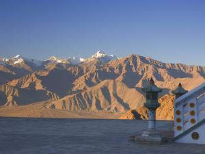 Shanti Stupa and Stok-Kangri Massif, Leh, Ladakh, Indian Himalayas, India by Jochen Schlenker