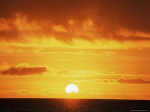 Sunrise Over the Sea, Western Australia, Australia, Pacific by Jochen Schlenker