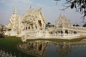 The White Temple (Wat Rong Khun), Ban Rong Khun, Chiang Mai, Thailand, Southeast Asia, Asia by Jochen Schlenker