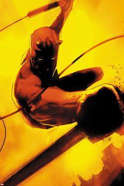 Daredevil: Reborn No.2 Cover: Daredevil Jumping by Jock