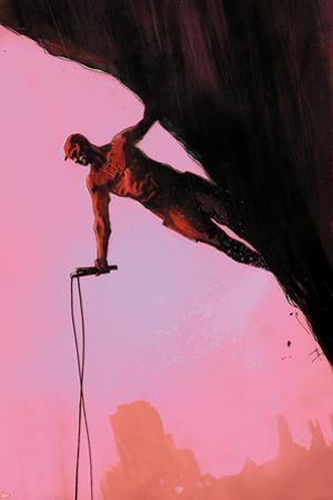 Daredevil: Reborn No.3 Cover: Daredevil Climbing by Jock