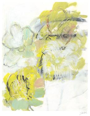 Yellow Floral Abstract I by Jodi Fuchs