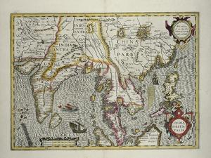 Indian Subcontinent to Philippines by Indonesian Archipelago and the Malay Peninsula, c.1600 by Jodocus Hondius