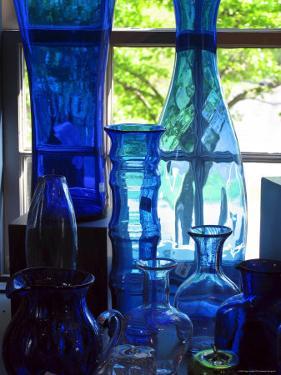 Shaker Blue Glass by Jody Miller