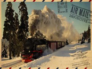 Locomotive Postcard by Jody Taylor