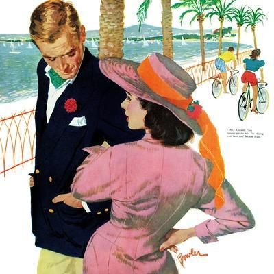 """The Strategy of Love - Saturday Evening Post """"Men at the Top"""", September 28, 1957 pg.32"""