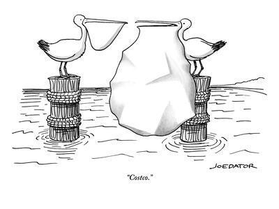 """Costco."" - New Yorker Cartoon"
