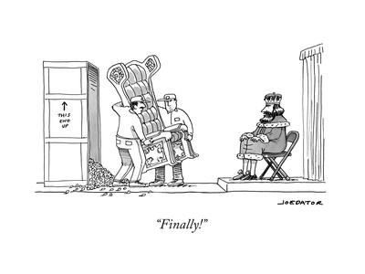 """Finally!"" - New Yorker Cartoon"