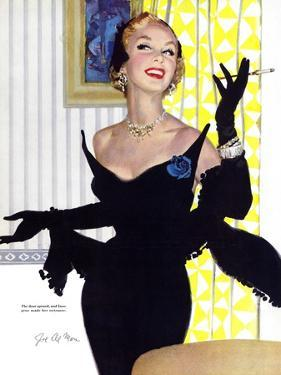 """Clever Woman Are Dangerous Too  - Saturday Evening Post """"Leading Ladies"""", August 5, 1950 pg.32 by Joe deMers"""
