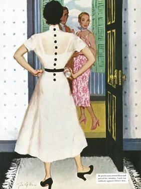 """I Want A Divorce! - Saturday Evening Post """"Leading Ladies"""", September 9, 1950 pg.24 by Joe deMers"""