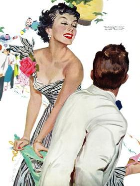 "I Want A Man  - Saturday Evening Post ""Leading Ladies"", April 15, 1950 pg.40 by Joe deMers"