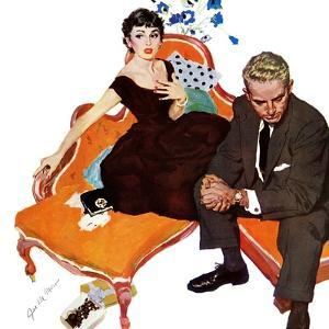 """Men Are Such Stinkers - Saturday Evening Post """"Men at the Top"""", May 7, 1955 pg.28 by Joe deMers"""