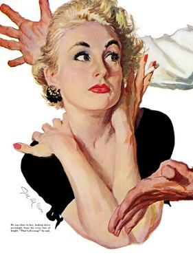 """No Wedding Bells for Me - Saturday Evening Post """"Leading Ladies"""", April 11, 1953 pg.23 by Joe deMers"""