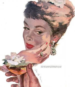 "The Indiscreet Widow - Saturday Evening Post ""Leading Ladies"", June 10, 1950 pg.38 by Joe deMers"