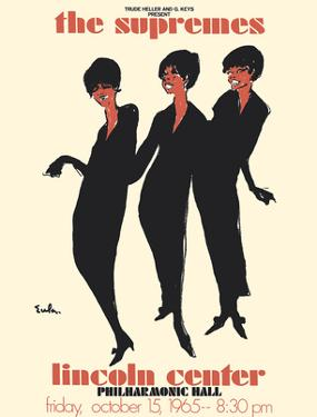 The Supremes - 1965 Lincoln Center, Philharmonic Hall Concert by Joe Eula