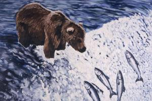 Alaskan Brown Bear, 2002 by Joe Heaps Nelson