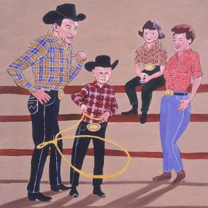 Cowboy Family, 2001 by Joe Heaps Nelson
