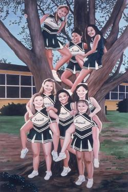 Jesuit Cheerleaders in a Tree, 2002 by Joe Heaps Nelson