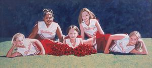 Junior High School Cheerleaders on the Grass, 2003 by Joe Heaps Nelson
