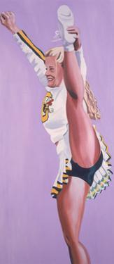 Oregon Ducks Cheerleader, 2002 by Joe Heaps Nelson