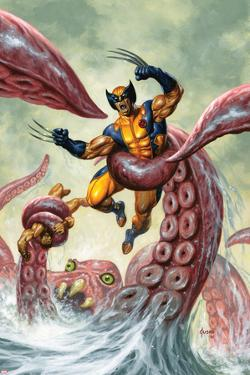 Wolverine/Hercules: Myths, Monsters & Mutants No.4 Cover: Trapped by a Sea Monster by Joe Jusko