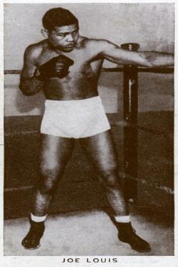 Joe Louis, American Boxer, 1938