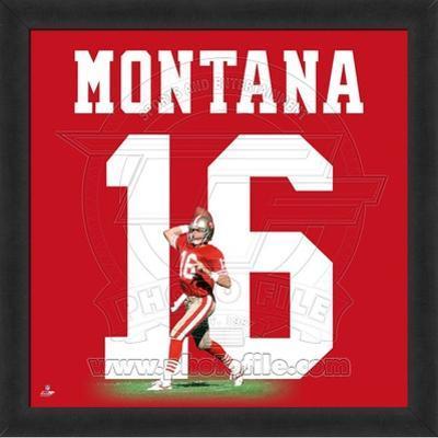 Joe Montana, 49ers photographic representation of the player's jersey