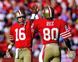 Joe Montana & Jerry Rice 1986 Actiion