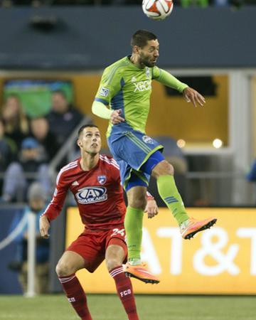 2014 MLS Playoffs: Nov 10, FC Dallas vs Seattle Sounders - Clint Dempsey, Matt Hedges by Joe Nicholson