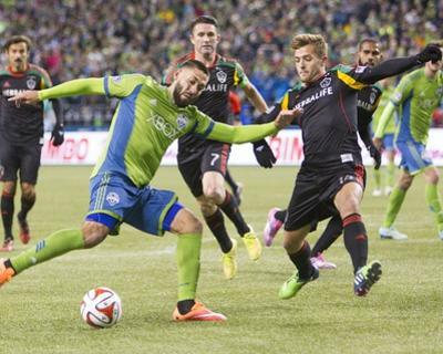 2014 MLS Western Conference Championship: Nov 30, Galaxy vs Sounders - Clint Dempsey, Robbie Rogers by Joe Nicholson