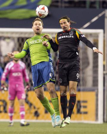 2014 MLS Western Conference Championship: Nov 30, LA Galaxy vs Seattle Sounders - Chad Marshall by Joe Nicholson