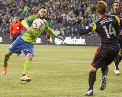 2014 MLS Western Conference Championship: Nov 30, LA Galaxy vs Seattle Sounders - Clint Dempsey by Joe Nicholson