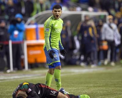 2014 MLS Western Conference Championship: Nov 30, LA Galaxy vs Seattle Sounders - DeAndre Yedlin by Joe Nicholson