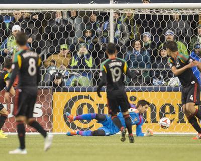 2014 MLS Western Conference Championship: Nov 30, LA Galaxy vs Seattle Sounders - Jaime Penedo by Joe Nicholson