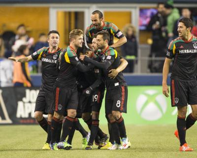 2014 MLS Western Conference Championship: Nov 30, LA Galaxy vs Seattle Sounders - Juninho by Joe Nicholson