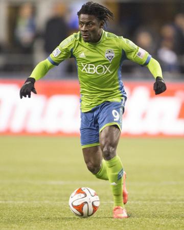 2014 MLS Western Conference Championship: Nov 30, LA Galaxy vs Seattle Sounders - Obafemi Martins by Joe Nicholson