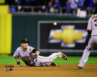Joe Panik Game 7 of the 2014 World Series Action