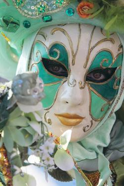 A Woman Wearing a Colorful Mask During Carnival by Joe Petersburger