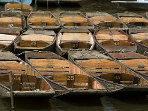 Boats Used for Punting in the Canals of Oxford by Joe Petersburger