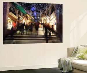 Shops Under An Artificially Lit Starry Sky on the Rialto Bridge by Joe Petersburger