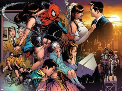 The Amazing Spider-Man No.545 Group: Spider-Man, Parker, Peter, Mary Jane Watson, and May Parker by Joe Quesada
