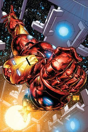 The Invincible Iron Man No.1 Cover: Iron Man by Joe Quesada