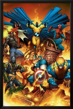 The New Avengers No.1 Cover: Spider-Man by Joe Quesada