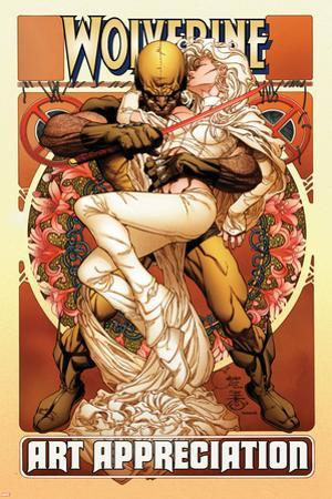 Wolverine Art Appreciation One-Shot Canvas Cover Cover: Wolverine and Emma Frost by Joe Quesada
